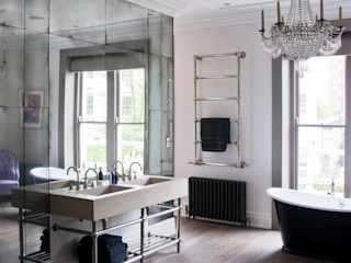 Antiqued Mirror Bathroom Panelling Rupert Bevan Ltd BadezimmerSpiegel