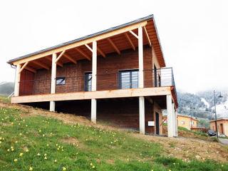 Empreinte Constructions bois Modern Balkon, Veranda & Teras