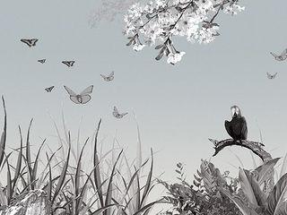 Panorama-Motiv Dschungel mit Papageien Gaedke Tapeten