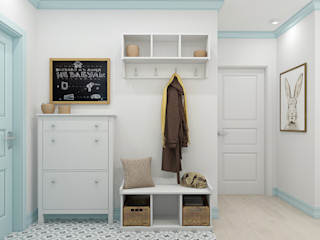 Ekaterina Donde Design Scandinavian style corridor, hallway& stairs