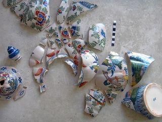 Restauration céramique / Potiche décorative avec couvercle de Delft Atelier Candice Carpentier