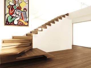 Siller Treppen/Stairs/Scale 現代風玄關、走廊與階梯