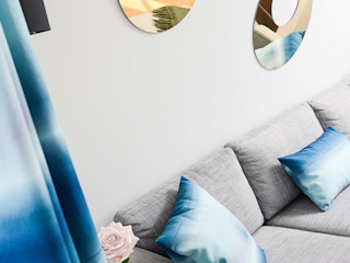 Salon Batignolles STUDIO EMMA ROUX SalonAccessoires & décorations Bleu