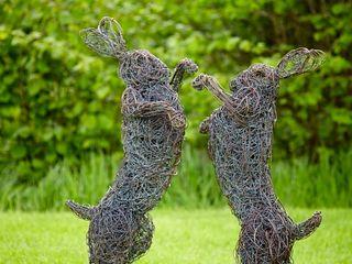 Wire Garden Sculptures Rupert Till Country style garden