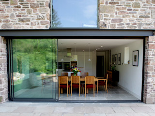 Veddw Farm, Monmouthshire Hall + Bednarczyk Architects Rumah Modern