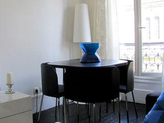 Salon Mont Cenis STUDIO EMMA ROUX Salon moderne Bleu