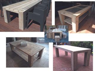 Steigerhouten tafels Trendy met Hout TuinMeubels