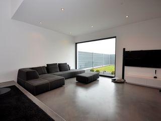 Haus D - Stutensee lc[a] la croix [architekten] Minimalistische Wohnzimmer