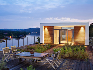 Cliff Dwelling Specht Architects Balcones y terrazas de estilo moderno