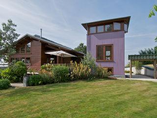 Hillside Farm Exterior Three DUA Architecture LLP Modern Evler
