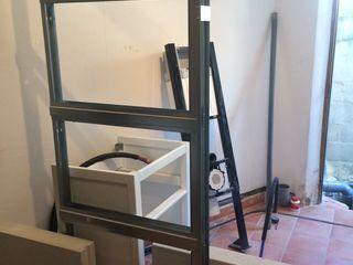 Travaux Avant/Après dans un studio L'Oeil DeCo Salle de bain moderne