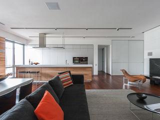 apartment V-21 VALENTIROV&PARTNERS Salones de estilo minimalista