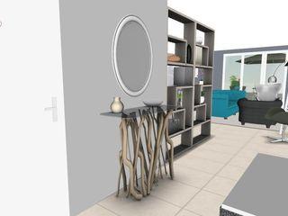 Appartement de 76 m² pour un homme seule et sa fille L'Oeil DeCo Couloir, entrée, escaliers modernes