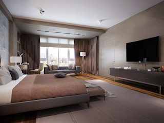 Bakı KAPRANDESIGN Спальня в стиле лофт