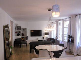 espaces & déco Salas de estilo minimalista Blanco