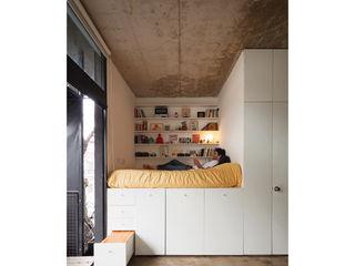 Quintana 4598 IR arquitectura Dormitorios modernos: Ideas, imágenes y decoración Madera Blanco