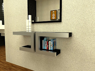 Domine design Corridor, hallway & stairs Drawers & shelves Metal Metallic/Silver