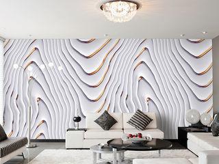 Elegante Tapeten Mowade Wände & BodenTapeten Weiß
