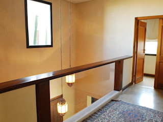 Parrado Arquitectura 現代風玄關、走廊與階梯