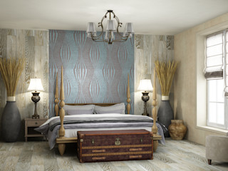 Eclectic DesignStudio Kamar Tidur Gaya Eklektik