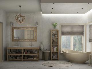 ванная комната в частном доме Eclectic DesignStudio Ванная комната в эклектичном стиле