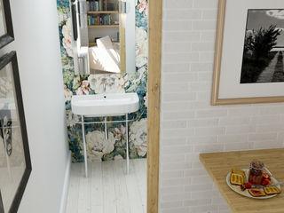 Un studio rénové à Paris Architecture du bain Salle de bain originale