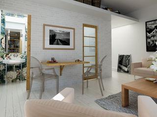 Un studio rénové à Paris Architecture du bain Salon original