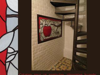 CREATIONS DE VITRAUX SUR MESURE Verre et Vitrail Couloir, entrée, escaliersAccessoires & décorations