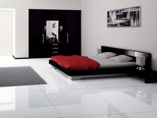 Gres porcellanato moderno ItalianGres Camera da letto minimalista Bianco