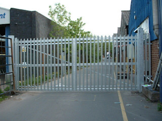 Steel Automatic Gates AGD Systems 상업 공간