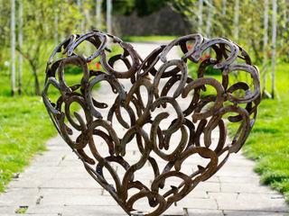 Herz aus Hufeisen HufeisenGlück GartenAccessoires und Dekoration