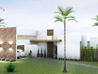 JERAU Projetos Sustentáveis Casas de estilo moderno Ladrillos Blanco