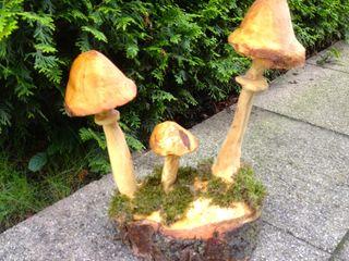 Pilze im Garten Holzwerkerin Eving GartenAccessoires und Dekoration