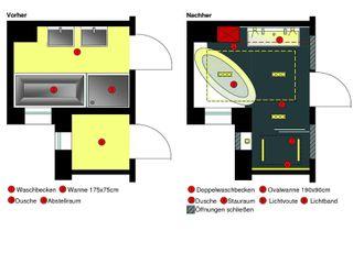 Nasszelle ade Stammer Innenarchitektur Minimalistische Badezimmer