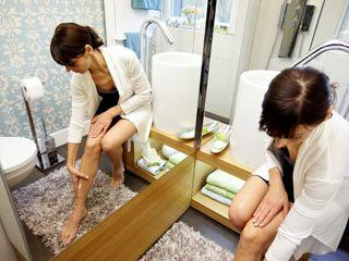 4m² Schlauchbad wird zum Querdenker Stammer Innenarchitektur Ausgefallene Badezimmer