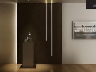 HP Interior srl Modern corridor, hallway & stairs