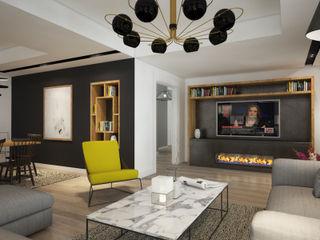 yücel partners Modern Living Room