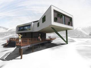 THE NEW COTTAGE OF KEZMAROK E2 Architecture + Interiors Casas de estilo moderno