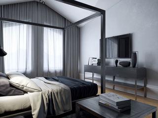 Перспектива Дизайн オリジナルスタイルの 寝室