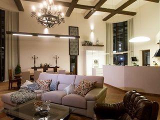 Студия интерьерного декора PROSTRANSTVO U Ruang Keluarga Gaya Mediteran