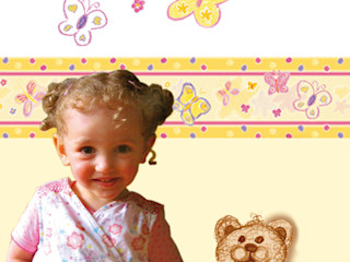 Borduere & Wandtattoo | Schmetterlinge Mein Bordürenladen Kinderzimmer im Landhausstil
