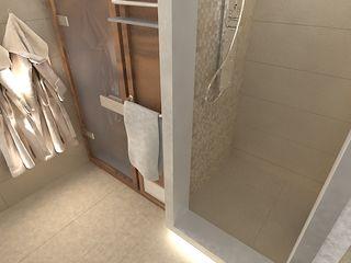 Двухуровневая квартира по ул. Чкалова Галина Глебова Ванная комната в стиле минимализм