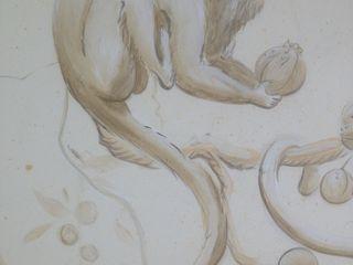 Grisaille Monkeys Eades Bespoke Kunst Kunstobjecten