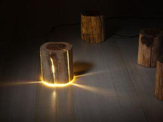 Cracked Log Lamps Duncan Meerding Столовая комнатаОсвещение