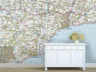Custom Map Wallpaper Love Maps On Ltd. Paredes y pisosPapel tapiz