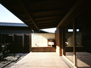 深川の家 House In Fukawa 飯塚建築工房 オリジナルデザインの テラス