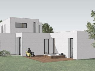 Projet P - maison en 3D AGENCE D'ARCHITECTURE BRAYER-HUGON Maisons modernes