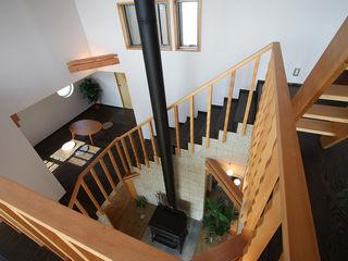 遠藤浩建築設計事務所 H,ENDOH ARCHTECT & ASSOCIATES Modern Corridor, Hallway and Staircase