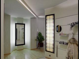 D&T Architects Pasillos, vestíbulos y escaleras minimalistas