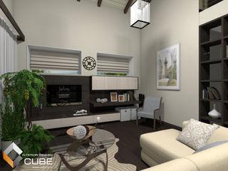 Лаборатория дизайна 'КУБ' Ruang Keluarga Minimalis